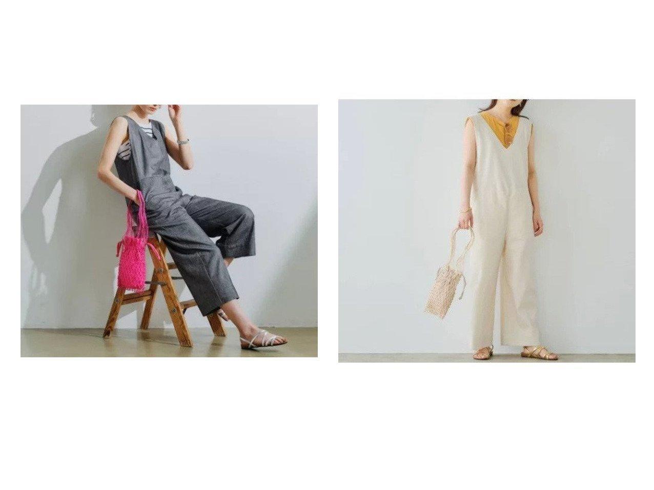 【green label relaxing / UNITED ARROWS/グリーンレーベル リラクシング / ユナイテッドアローズ】のSC デニムライク オールインワン 【ワンピース・ドレス】おすすめ!人気、トレンド・レディースファッションの通販 おすすめで人気の流行・トレンド、ファッションの通販商品 インテリア・家具・メンズファッション・キッズファッション・レディースファッション・服の通販 founy(ファニー) https://founy.com/ ファッション Fashion レディースファッション WOMEN ワンピース Dress オールインワン ワンピース All In One Dress サロペット Salopette インナー 秋 Autumn/Fall ショート デニム ノースリーブ フロント ポケット メタル リラックス ワイド おすすめ Recommend 夏 Summer |ID:crp329100000055595