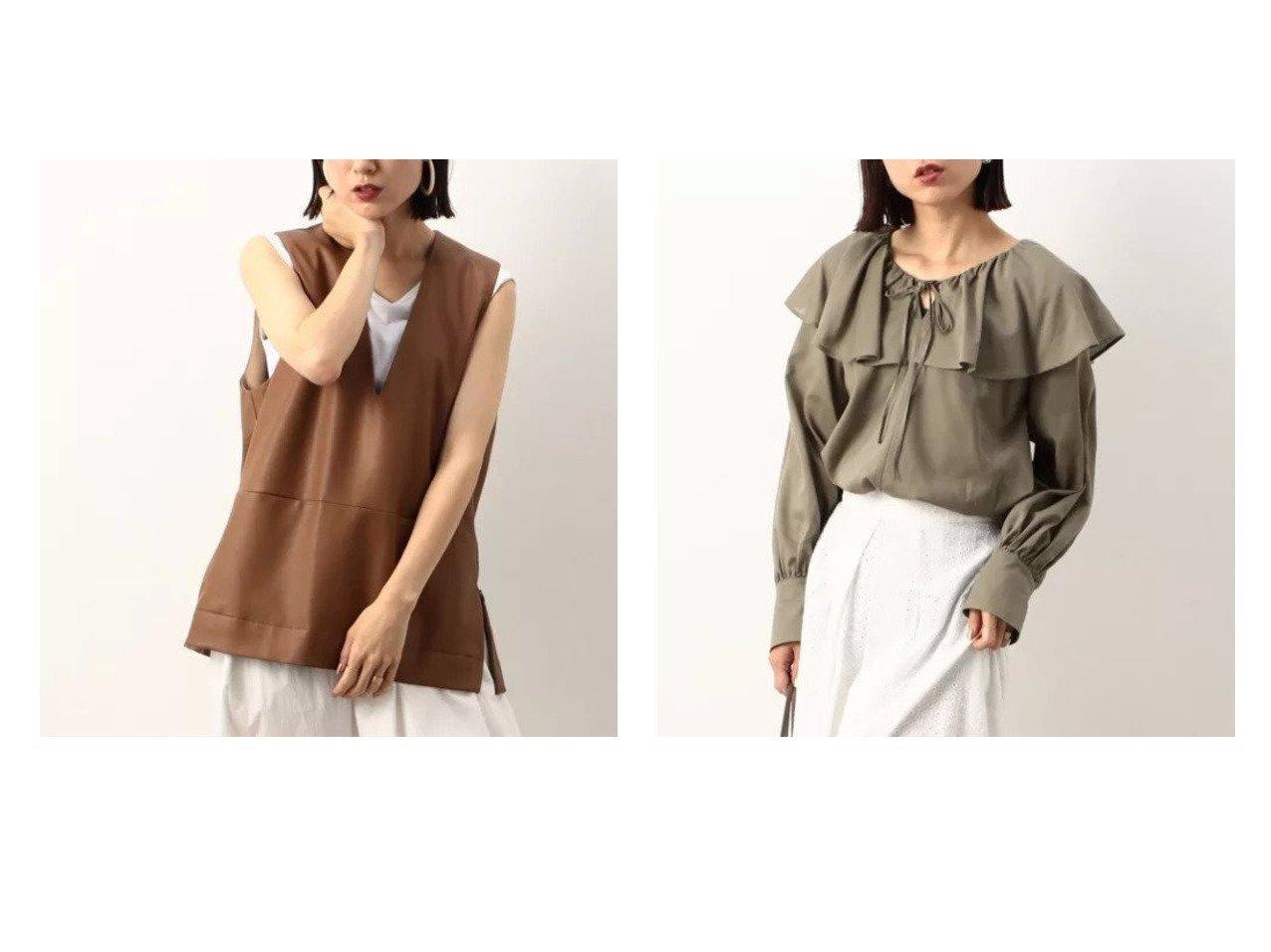【NOLLEY'S/ノーリーズ】のヴィーガンレザーVネックベスト&【WEB限定】フリルブラウス 【トップス・カットソー】おすすめ!人気、トレンド・レディースファッションの通販 おすすめで人気の流行・トレンド、ファッションの通販商品 インテリア・家具・メンズファッション・キッズファッション・レディースファッション・服の通販 founy(ファニー) https://founy.com/ ファッション Fashion レディースファッション WOMEN アウター Coat Outerwear トップス・カットソー Tops/Tshirt ベスト/ジレ Gilets/Vests Vネック V-Neck シャツ/ブラウス Shirts/Blouses A/W・秋冬 AW・Autumn/Winter・FW・Fall-Winter おすすめ Recommend インナー カットソー フロント ベスト ポケット ロング 夏 Summer トレンド フリル 冬 Winter |ID:crp329100000055599