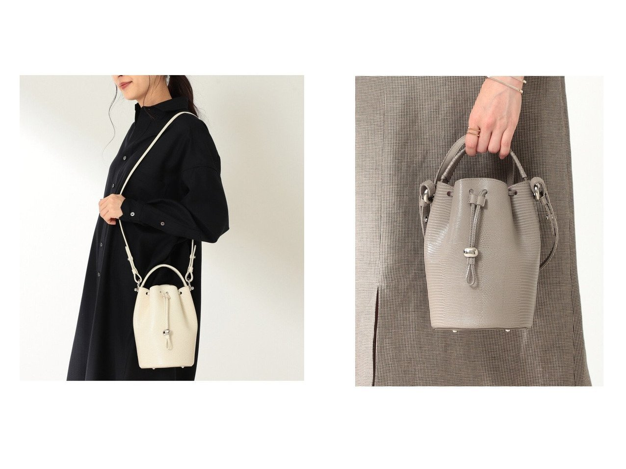 【Demi-Luxe BEAMS/デミルクス ビームス】のランタン リザード バッグ 別注・限定・コラボなど、おすすめ!人気、トレンド・レディースファッションの通販 おすすめで人気の流行・トレンド、ファッションの通販商品 インテリア・家具・メンズファッション・キッズファッション・レディースファッション・服の通販 founy(ファニー) https://founy.com/ ファッション Fashion レディースファッション WOMEN バッグ Bag クラシック 巾着 軽量 ショルダー シルバー スエード スタイリッシュ バランス フォルム 別注 モダン ラップ  ID:crp329100000055731
