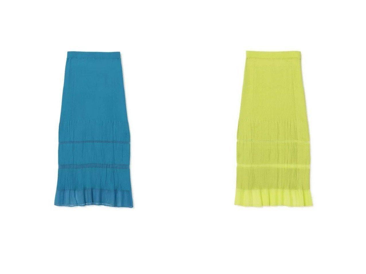 【LE CIEL BLEU/ルシェル ブルー】のTransparent Long Kint SKIRT 【スカート】おすすめ!人気、トレンド・レディースファッションの通販 おすすめで人気の流行・トレンド、ファッションの通販商品 インテリア・家具・メンズファッション・キッズファッション・レディースファッション・服の通販 founy(ファニー) https://founy.com/ ファッション Fashion レディースファッション WOMEN スカート Skirt エレガント シアー ボーダー マキシ リブニット ロング |ID:crp329100000055813
