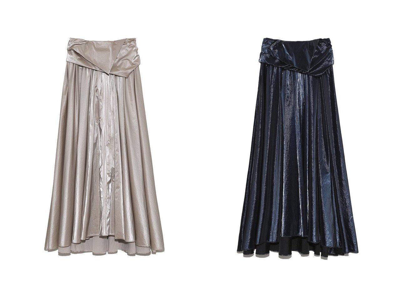 【SNIDEL/スナイデル】のメタリックボリュームスカート 【スカート】おすすめ!人気、トレンド・レディースファッションの通販 おすすめで人気の流行・トレンド、ファッションの通販商品 インテリア・家具・メンズファッション・キッズファッション・レディースファッション・服の通販 founy(ファニー) https://founy.com/ ファッション Fashion レディースファッション WOMEN スカート Skirt ロングスカート Long Skirt NEW・新作・新着・新入荷 New Arrivals ギャザー スポーティ チェック フレア ロング 秋 Autumn/Fall |ID:crp329100000055815