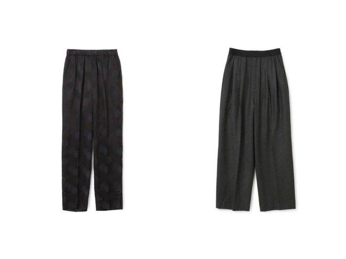 【08sircus/ゼロエイトサーカス】のChinoiserie jacquard slit pants&Saxony rubber tuck pants 【パンツ】おすすめ!人気、トレンド・レディースファッションの通販 おすすめ人気トレンドファッション通販アイテム インテリア・キッズ・メンズ・レディースファッション・服の通販 founy(ファニー) https://founy.com/ ファッション Fashion レディースファッション WOMEN パンツ Pants 2021年 2021 2021-2022秋冬・A/W AW・Autumn/Winter・FW・Fall-Winter・2021-2022 A/W・秋冬 AW・Autumn/Winter・FW・Fall-Winter エレガント ストレッチ ラバー おすすめ Recommend ショーツ シルク ジャカード ストレート スリット セットアップ 今季 定番 Standard  ID:crp329100000056278