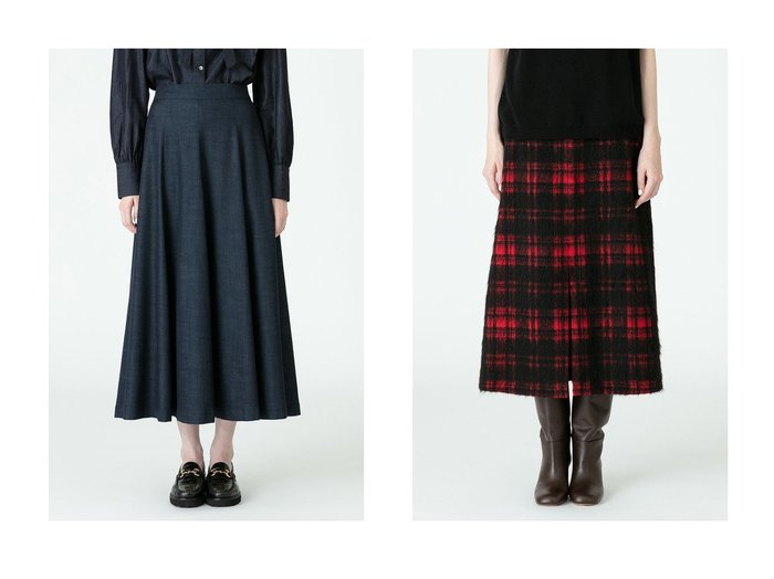 【allureville/アルアバイル】のテンセルデニムスカート&シャギーチェックスリットスカート 【スカート】おすすめ!人気、トレンド・レディースファッションの通販 おすすめ人気トレンドファッション通販アイテム インテリア・キッズ・メンズ・レディースファッション・服の通販 founy(ファニー) https://founy.com/ ファッション Fashion レディースファッション WOMEN スカート Skirt デニムスカート Denim Skirts ロングスカート Long Skirt 2020年 2020 2020-2021秋冬・A/W AW・Autumn/Winter・FW・Fall-Winter/2020-2021 2021年 2021 2021-2022秋冬・A/W AW・Autumn/Winter・FW・Fall-Winter・2021-2022 A/W・秋冬 AW・Autumn/Winter・FW・Fall-Winter デニム バランス フレア ロング スリット チェック フロント 台形 |ID:crp329100000056312