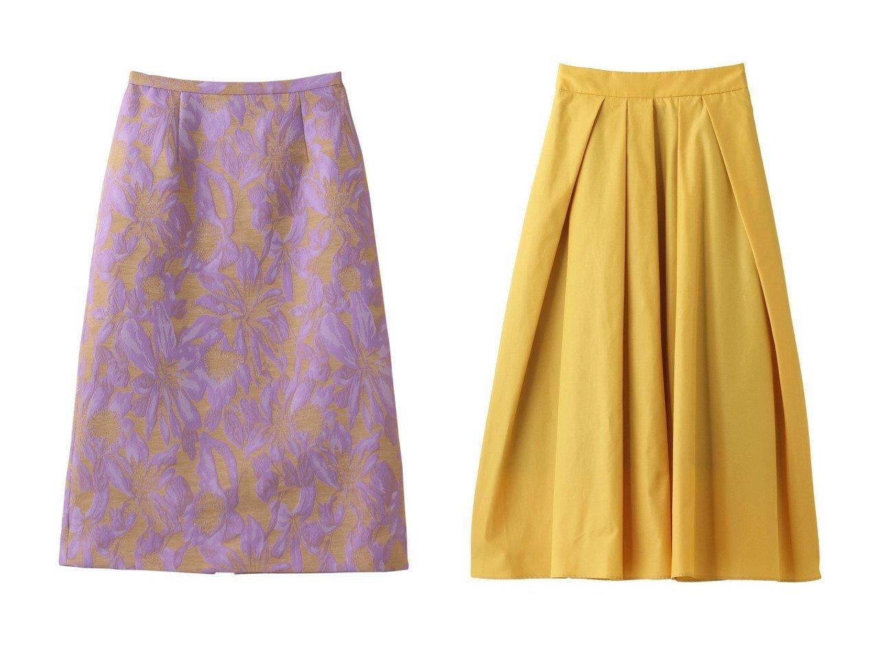 【allureville/アルアバイル】の【Loulou Willoughby】フラワージャガードAラインスカート&Cグログランタックフレアスカート 【スカート】おすすめ!人気、トレンド・レディースファッションの通販 おすすめで人気の流行・トレンド、ファッションの通販商品 インテリア・家具・メンズファッション・キッズファッション・レディースファッション・服の通販 founy(ファニー) https://founy.com/ ファッション Fashion レディースファッション WOMEN スカート Skirt Aライン/フレアスカート Flared A-Line Skirts カットソー バランス フォルム フレア フロント おすすめ Recommend ジャカード セットアップ パーティ フラワー |ID:crp329100000056313