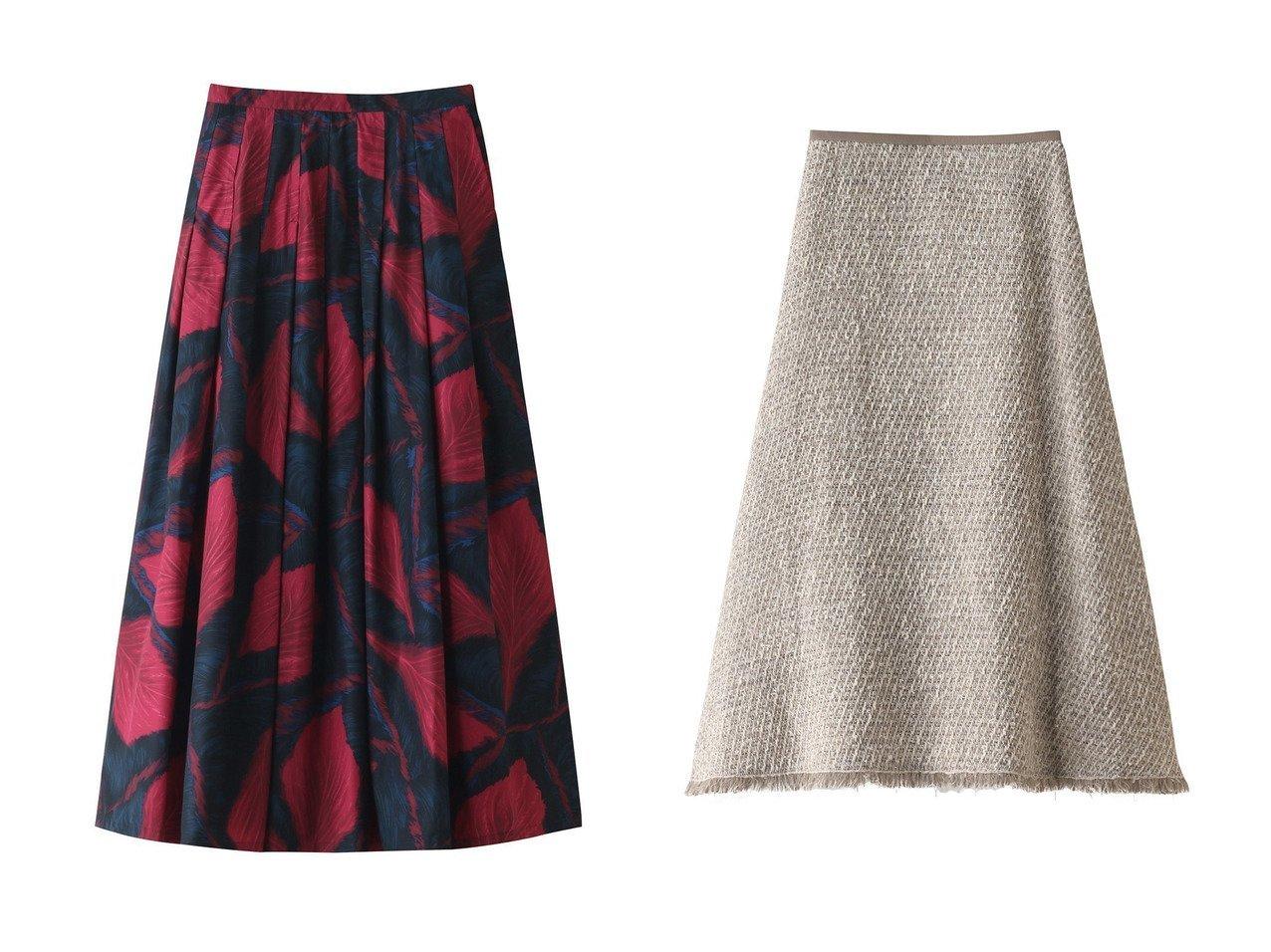 【HOUSE OF LOTUS/ハウス オブ ロータス】のポインセチアプリント タックスカート&ツイード セミフレアスカート 【スカート】おすすめ!人気、トレンド・レディースファッションの通販 おすすめで人気の流行・トレンド、ファッションの通販商品 インテリア・家具・メンズファッション・キッズファッション・レディースファッション・服の通販 founy(ファニー) https://founy.com/ ファッション Fashion レディースファッション WOMEN スカート Skirt Aライン/フレアスカート Flared A-Line Skirts ロングスカート Long Skirt 2020年 2020 2020-2021秋冬・A/W AW・Autumn/Winter・FW・Fall-Winter/2020-2021 2021年 2021 2021-2022秋冬・A/W AW・Autumn/Winter・FW・Fall-Winter・2021-2022 A/W・秋冬 AW・Autumn/Winter・FW・Fall-Winter グラデーション グログラン チュール ツイード フリンジ フレア ミックス ロング |ID:crp329100000056317