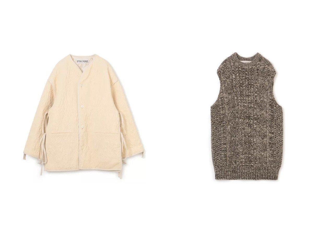 【INSCRIRE/アンスクリア】のFlower Jacquard Lining Blouson&Mix Alan Vest 【アウター】おすすめ!人気、トレンド・レディースファッションの通販 おすすめで人気の流行・トレンド、ファッションの通販商品 インテリア・家具・メンズファッション・キッズファッション・レディースファッション・服の通販 founy(ファニー) https://founy.com/ ファッション Fashion レディースファッション WOMEN アウター Coat Outerwear ジャケット Jackets ブルゾン Blouson/Jackets トップス・カットソー Tops/Tshirt ベスト/ジレ Gilets/Vests 2021年 2021 2021-2022秋冬・A/W AW・Autumn/Winter・FW・Fall-Winter・2021-2022 A/W・秋冬 AW・Autumn/Winter・FW・Fall-Winter ジャケット スリット ブルゾン リバーシブル カットソー ベスト ボトム ミックス 人気  ID:crp329100000056373