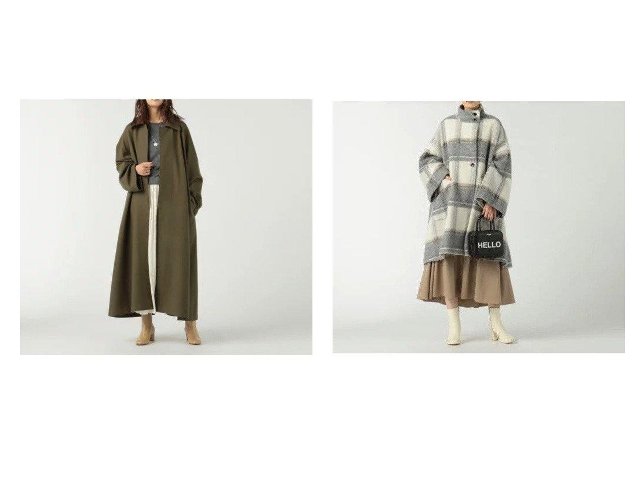 【COGTHEBIGSMOKE/コグ ザビッグスモーク】のRAGLAN COAT&【MICA & DEAL/マイカ ディール】のitally shaggy check coat 【アウター】おすすめ!人気、トレンド・レディースファッションの通販 おすすめで人気の流行・トレンド、ファッションの通販商品 インテリア・家具・メンズファッション・キッズファッション・レディースファッション・服の通販 founy(ファニー) https://founy.com/ ファッション Fashion レディースファッション WOMEN アウター Coat Outerwear コート Coats コレクション ジャージ フラット メルトン ロング 人気 定番 Standard コンパクト スタンド ワイド  ID:crp329100000056376