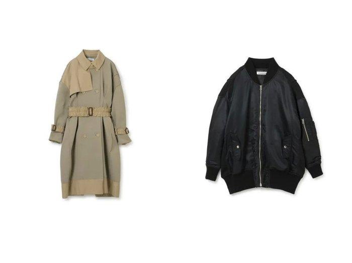 【MALAMUTE/マラミュート】のpleated trench coat&pleated MA-1 【アウター】おすすめ!人気、トレンド・レディースファッションの通販 おすすめ人気トレンドファッション通販アイテム インテリア・キッズ・メンズ・レディースファッション・服の通販 founy(ファニー) https://founy.com/ ファッション Fashion レディースファッション WOMEN アウター Coat Outerwear ジャケット Jackets ブルゾン Blouson/Jackets MA-1 MA-1 コート Coats トレンチコート Trench Coats 2021年 2021 2021-2022秋冬・A/W AW・Autumn/Winter・FW・Fall-Winter・2021-2022 A/W・秋冬 AW・Autumn/Winter・FW・Fall-Winter ジャケット ブルゾン 軽量 エレガント ギャザー フレア |ID:crp329100000056379