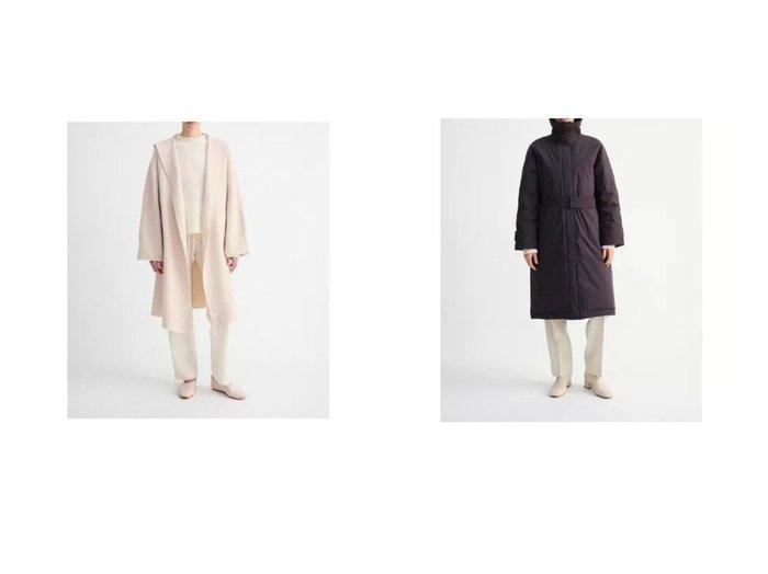 【SAYAKA DAVIS/サヤカ デイヴィス】のHooded Knit Robe&Down Balmacaan Coat 【アウター】おすすめ!人気、トレンド・レディースファッションの通販 おすすめ人気トレンドファッション通販アイテム インテリア・キッズ・メンズ・レディースファッション・服の通販 founy(ファニー) https://founy.com/ ファッション Fashion レディースファッション WOMEN アウター Coat Outerwear コート Coats チェスターコート Top Coat コンパクト ジャケット ストレッチ タンブラー ダウン バランス ポケット 防寒 チェスターコート フェルト |ID:crp329100000056382