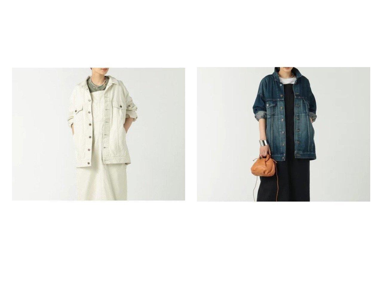 【BLUEBIRD BOULEVARD/ブルーバード ブルバード】のウォームワーカーサテンジャケット&オーバーサイズドデニムジャケット 【アウター】おすすめ!人気、トレンド・レディースファッションの通販 おすすめで人気の流行・トレンド、ファッションの通販商品 インテリア・家具・メンズファッション・キッズファッション・レディースファッション・服の通販 founy(ファニー) https://founy.com/ ファッション Fashion レディースファッション WOMEN アウター Coat Outerwear ジャケット Jackets デニムジャケット Denim Jackets ジャケット セットアップ ダメージ デニム クラシック サテン ワーク |ID:crp329100000056383