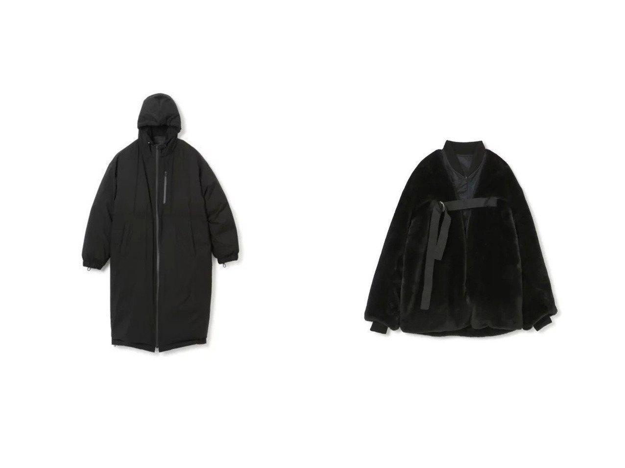 【08sircus/ゼロエイトサーカス】のStretch taffeta down foodie coat&MA-1 Eco fur reversible 【アウター】おすすめ!人気、トレンド・レディースファッションの通販 おすすめで人気の流行・トレンド、ファッションの通販商品 インテリア・家具・メンズファッション・キッズファッション・レディースファッション・服の通販 founy(ファニー) https://founy.com/ ファッション Fashion レディースファッション WOMEN アウター Coat Outerwear コート Coats ジャケット Jackets ブルゾン Blouson/Jackets MA-1 MA-1 2021年 2021 2021-2022秋冬・A/W AW・Autumn/Winter・FW・Fall-Winter・2021-2022 A/W・秋冬 AW・Autumn/Winter・FW・Fall-Winter ジャケット フロント ブルゾン リバーシブル イタリア ストレッチ スリット タフタ ダウン 防寒 |ID:crp329100000056384