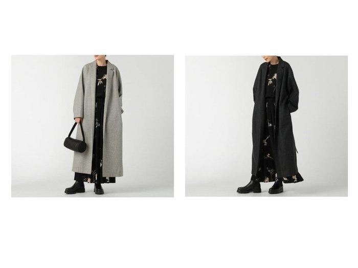 【SACRA/サクラ】のフランネルコート/HIGH COUNT FLANNEL 【アウター】おすすめ!人気、トレンド・レディースファッションの通販 おすすめ人気トレンドファッション通販アイテム インテリア・キッズ・メンズ・レディースファッション・服の通販 founy(ファニー) https://founy.com/ ファッション Fashion レディースファッション WOMEN アウター Coat Outerwear コート Coats チェスターコート Top Coat ジャケット チェスターコート メランジ |ID:crp329100000056390