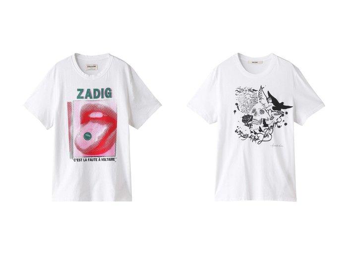 【ZADIG & VOLTAIRE / MEN/ザディグ エ ヴォルテール】の【MEN】TED VOLTAIRE HAPPY MOUTH T-SHIRT COTON Tシャツ&【MEN】TED HC COMPO SKULL ART IS HOPE T-SHIRT Tシャツ 【MEN】おすすめ!人気トレンド・男性、メンズファッションの通販 おすすめ人気トレンドファッション通販アイテム インテリア・キッズ・メンズ・レディースファッション・服の通販 founy(ファニー) https://founy.com/ ファッション Fashion メンズファッション MEN トップス・カットソー Tops/Tshirt/Men シャツ Shirts クール ショート スリーブ プリント シンプル フロント  ID:crp329100000056543