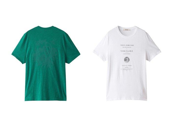 【ZADIG & VOLTAIRE / MEN/ザディグ エ ヴォルテール】の【MEN】STOCKHOLM COTON FLAMME FLOCK T-SHIRT Tシャツ&【MEN】TOMMY HC ZADIG OU LA DESTINEE T-SHIRT Tシャツ 【MEN】おすすめ!人気トレンド・男性、メンズファッションの通販 おすすめ人気トレンドファッション通販アイテム インテリア・キッズ・メンズ・レディースファッション・服の通販 founy(ファニー) https://founy.com/ ファッション Fashion メンズファッション MEN トップス・カットソー Tops/Tshirt/Men シャツ Shirts ショート ジャケット スリーブ プリント ベーシック 定番 Standard おすすめ Recommend シンプル ロング  ID:crp329100000056544