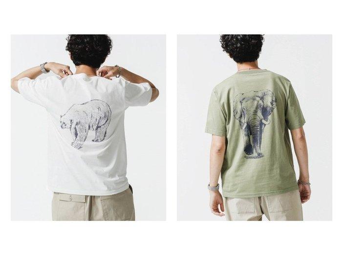 【nano universe / MEN/ナノ ユニバース】のWWF ANIMAL Tシャツ 半袖 1 【MEN】別注・限定・コラボなど、おすすめ!人気トレンド・男性、メンズファッションの通販 おすすめ人気トレンドファッション通販アイテム インテリア・キッズ・メンズ・レディースファッション・服の通販 founy(ファニー) https://founy.com/ ファッション Fashion メンズファッション MEN トップス・カットソー Tops/Tshirt/Men シャツ Shirts カットソー コラボ フィット プリント リラックス 今季 半袖  ID:crp329100000056590
