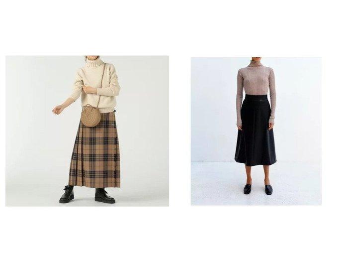 【SAYAKA DAVIS/サヤカ デイヴィス】のFlared Skirt&【O'NEIL of DUBLIN/オニール オブ ダブリン】のロング キルトスカート 【スカート】おすすめ!人気、トレンド・レディースファッションの通販 おすすめ人気トレンドファッション通販アイテム インテリア・キッズ・メンズ・レディースファッション・服の通販 founy(ファニー) https://founy.com/ ファッション Fashion レディースファッション WOMEN スカート Skirt A/W・秋冬 AW・Autumn/Winter・FW・Fall-Winter キルト チェック フロント マキシ ラップ ロング 定番 Standard コーティング パターン ポケット ワーク  ID:crp329100000056659