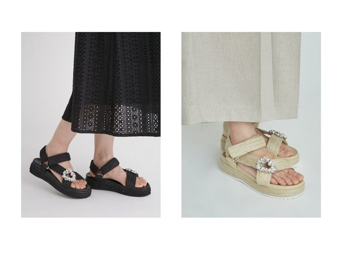 【CELFORD/セルフォード】のジュートプラットフォームサンダル 【シューズ・靴】おすすめ!人気、トレンド・レディースファッションの通販 おすすめ人気トレンドファッション通販アイテム インテリア・キッズ・メンズ・レディースファッション・服の通販 founy(ファニー) https://founy.com/ ファッション Fashion レディースファッション WOMEN サンダル シューズ ジュート スポーティ スマート ビジュー ラップ 夏 Summer  ID:crp329100000056673