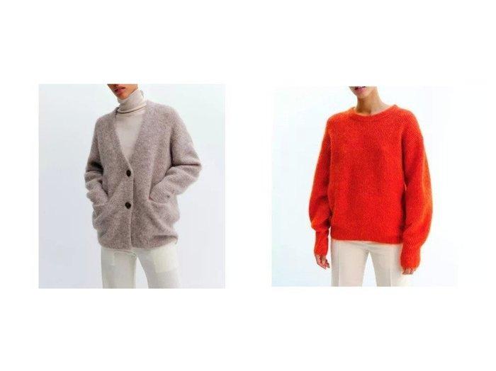 【SAYAKA DAVIS/サヤカ デイヴィス】のCocoon Cardigan&Cocoon Sweater 【トップス・カットソー】おすすめ!人気、トレンド・レディースファッションの通販 おすすめ人気トレンドファッション通販アイテム インテリア・キッズ・メンズ・レディースファッション・服の通販 founy(ファニー) https://founy.com/ ファッション Fashion レディースファッション WOMEN トップス・カットソー Tops/Tshirt ニット Knit Tops パーカ Sweats スウェット Sweat カーディガン Cardigans Vネック V-Neck セーター 畦 |ID:crp329100000056744