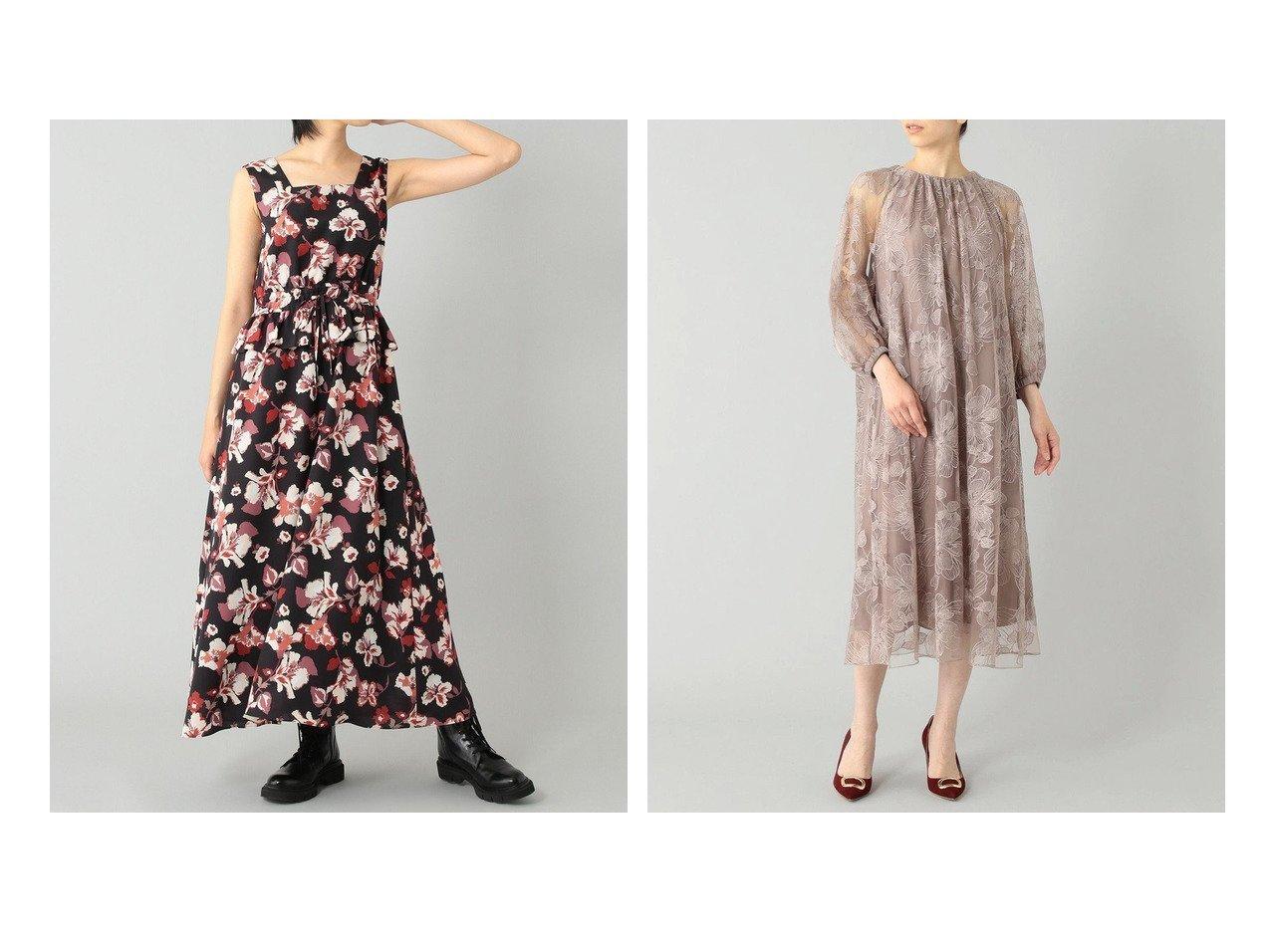 【GRACE CONTINENTAL/グレース コンチネンタル】のビックフラワーチュールドレス&ハイビスカスシャーリングワンピース 【ワンピース・ドレス】おすすめ!人気、トレンド・レディースファッションの通販 おすすめで人気の流行・トレンド、ファッションの通販商品 インテリア・家具・メンズファッション・キッズファッション・レディースファッション・服の通販 founy(ファニー) https://founy.com/ ファッション Fashion レディースファッション WOMEN ワンピース Dress ドレス Party Dresses 送料無料 Free Shipping ドローストリング フリル リゾート リラックス 夏 Summer シアー チュール ドレス ドレープ フェミニン フラワー モチーフ リボン 定番 Standard  ID:crp329100000056878