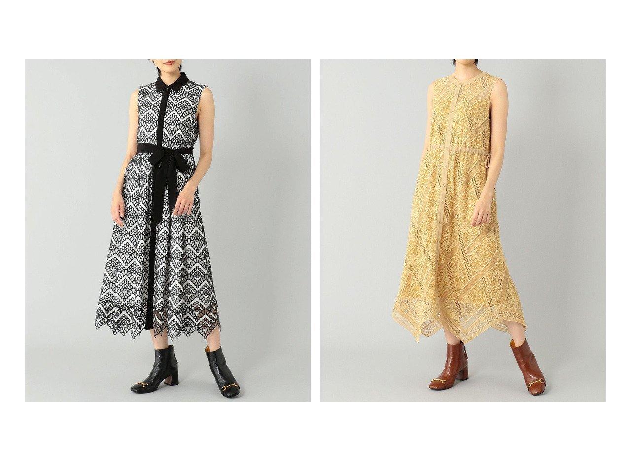 【GRACE CONTINENTAL/グレース コンチネンタル】のカットワークノースリーブワンピース&レースチェックワンピース 【ワンピース・ドレス】おすすめ!人気、トレンド・レディースファッションの通販 おすすめで人気の流行・トレンド、ファッションの通販商品 インテリア・家具・メンズファッション・キッズファッション・レディースファッション・服の通販 founy(ファニー) https://founy.com/ ファッション Fashion レディースファッション WOMEN ワンピース Dress 送料無料 Free Shipping イレギュラー チェック ドレス ドローストリング フェミニン ヘムライン レース ロング 夏 Summer エレガント オケージョン ガーリー スカラップ リボン ワーク 再入荷 Restock/Back in Stock/Re Arrival  ID:crp329100000056881