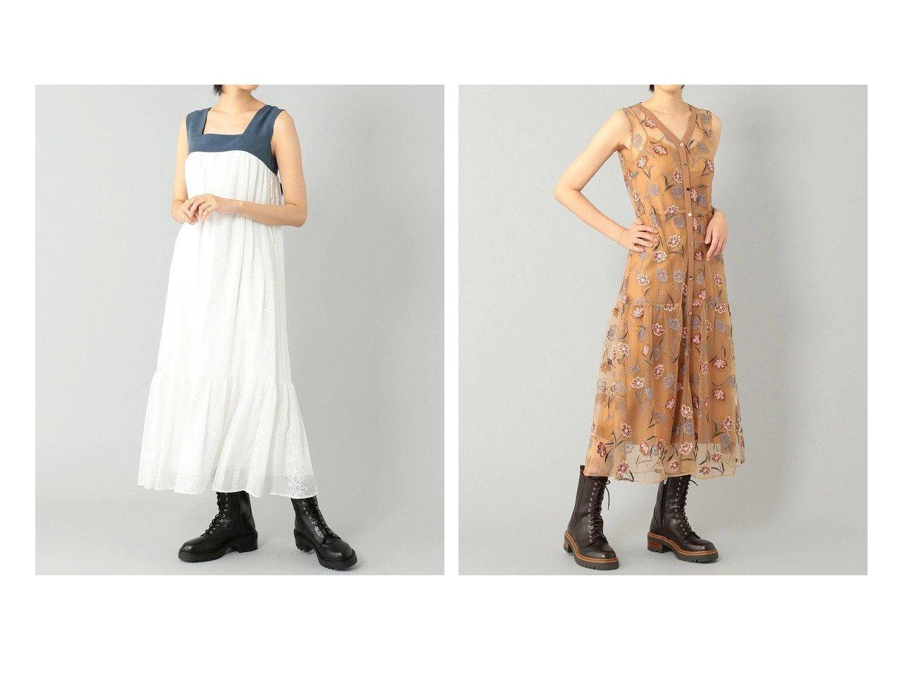 【GRACE CONTINENTAL/グレース コンチネンタル】のバックリボンバイカラーワンピース&シルエットフラワーレースドレス 【ワンピース・ドレス】おすすめ!人気、トレンド・レディースファッションの通販 おすすめで人気の流行・トレンド、ファッションの通販商品 インテリア・家具・メンズファッション・キッズファッション・レディースファッション・服の通販 founy(ファニー) https://founy.com/ ファッション Fashion レディースファッション WOMEN ワンピース Dress ドレス Party Dresses 送料無料 Free Shipping シフォン スクエア ストライプ ティアード ドレス ノースリーブ リゾート リボン 夏 Summer  ID:crp329100000056882