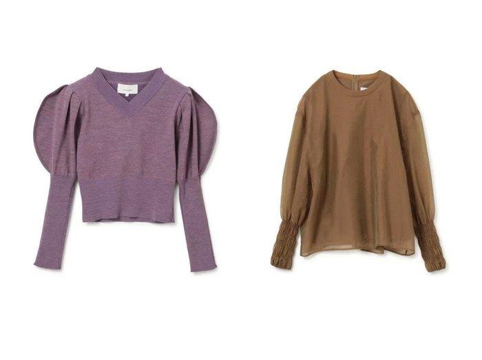 【AKIRANAKA/アキラナカ】のRound sleeves knit pullover&Layered organza long sleeves pullover 【トップス・カットソー】おすすめ!人気、トレンド・レディースファッションの通販 おすすめ人気トレンドファッション通販アイテム インテリア・キッズ・メンズ・レディースファッション・服の通販 founy(ファニー) https://founy.com/ ファッション Fashion レディースファッション WOMEN トップス・カットソー Tops/Tshirt ニット Knit Tops プルオーバー Pullover Vネック V-Neck シャツ/ブラウス Shirts/Blouses ロング / Tシャツ T-Shirts カットソー Cut and Sewn 2021年 2021 2021-2022秋冬・A/W AW・Autumn/Winter・FW・Fall-Winter・2021-2022 A/W・秋冬 AW・Autumn/Winter・FW・Fall-Winter クロップド コンパクト セーター フォルム リブニット エレガント オーガンジー カットソー カフス シアー シェイプ シャーリング シンプル フォーマル 洗える 長袖 |ID:crp329100000056919