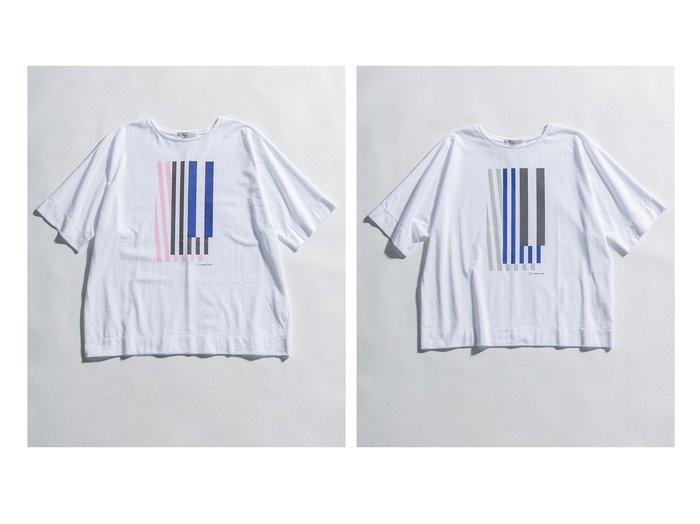【NIJYUSANKU/23区】の【23区 lab.】PAPIER TIGRE プリント オーバーサイズ Tシャツ 【トップス・カットソー】おすすめ!人気、トレンド・レディースファッションの通販 おすすめ人気トレンドファッション通販アイテム インテリア・キッズ・メンズ・レディースファッション・服の通販 founy(ファニー) https://founy.com/ ファッション Fashion レディースファッション WOMEN トップス・カットソー Tops/Tshirt シャツ/ブラウス Shirts/Blouses ロング / Tシャツ T-Shirts カットソー Cut and Sewn カットソー グラフィック シンプル ステーショナリー ストライプ ノースリーブ プリント リボン ルーズ 2021年 2021 S/S・春夏 SS・Spring/Summer 2021春夏・S/S SS/Spring/Summer/2021 送料無料 Free Shipping 夏 Summer  ID:crp329100000056936