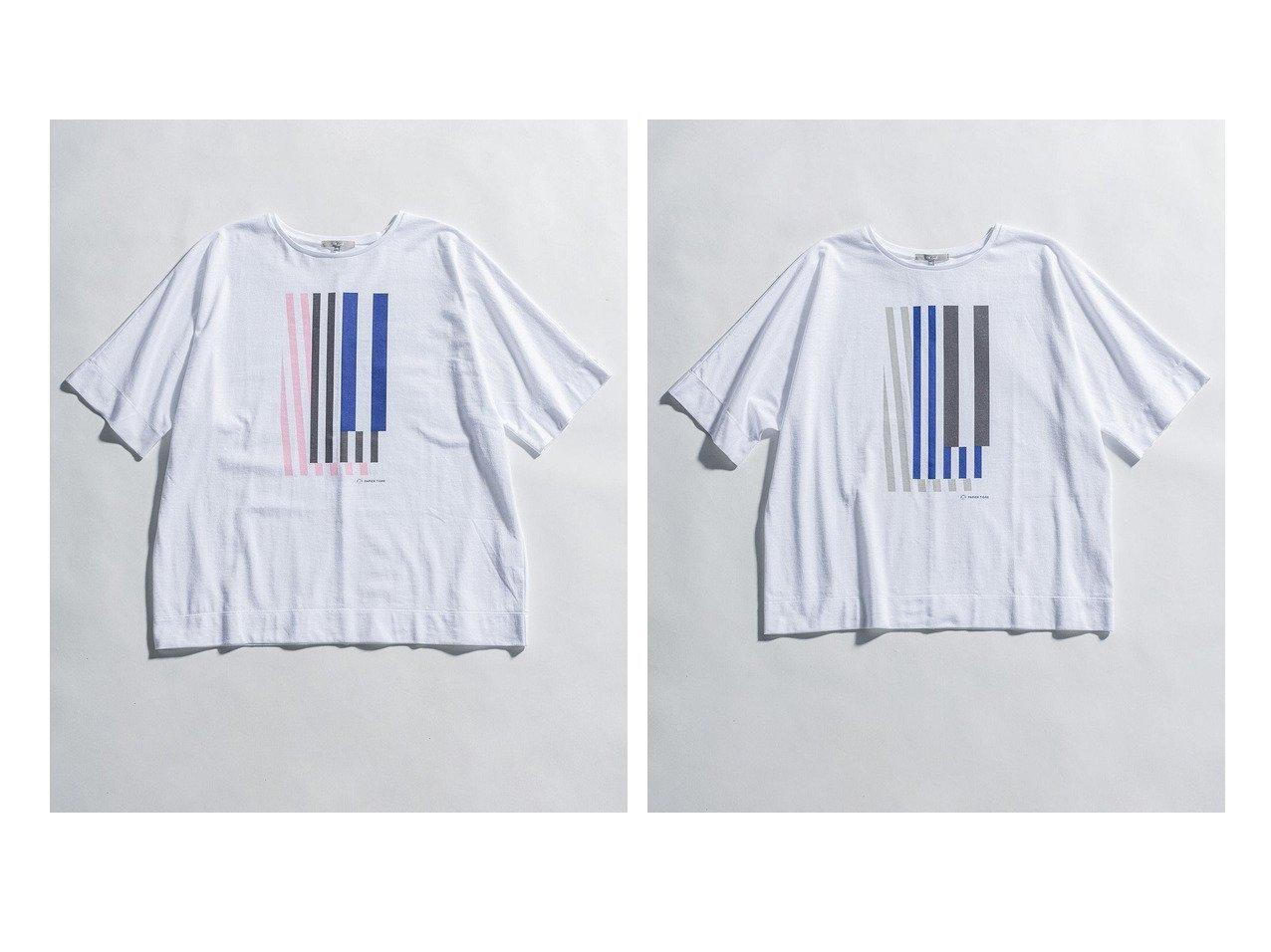 【NIJYUSANKU/23区】の【23区 lab.】PAPIER TIGRE プリント オーバーサイズ Tシャツ 【トップス・カットソー】おすすめ!人気、トレンド・レディースファッションの通販 おすすめで人気の流行・トレンド、ファッションの通販商品 インテリア・家具・メンズファッション・キッズファッション・レディースファッション・服の通販 founy(ファニー) https://founy.com/ ファッション Fashion レディースファッション WOMEN トップス・カットソー Tops/Tshirt シャツ/ブラウス Shirts/Blouses ロング / Tシャツ T-Shirts カットソー Cut and Sewn カットソー グラフィック シンプル ステーショナリー ストライプ ノースリーブ プリント リボン ルーズ 2021年 2021 S/S・春夏 SS・Spring/Summer 2021春夏・S/S SS/Spring/Summer/2021 送料無料 Free Shipping 夏 Summer  ID:crp329100000056936