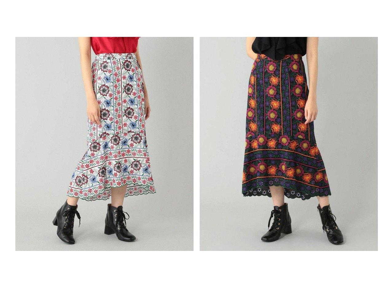 【GRACE CONTINENTAL/グレース コンチネンタル】のイレヘム刺繍スカート 【スカート】おすすめ!人気、トレンド・レディースファッションの通販   おすすめで人気の流行・トレンド、ファッションの通販商品 インテリア・家具・メンズファッション・キッズファッション・レディースファッション・服の通販 founy(ファニー) https://founy.com/ ファッション Fashion レディースファッション WOMEN スカート Skirt 送料無料 Free Shipping イレヘム オフショルダー セットアップ 夏 Summer |ID:crp329100000057109