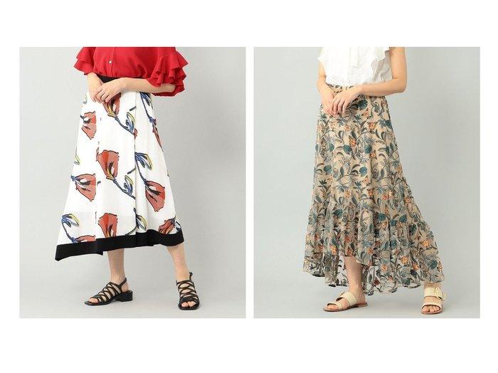 【GRACE CONTINENTAL/グレース コンチネンタル】のフラワーJQスカート&ボタニカルチュール刺繍スカート 【スカート】おすすめ!人気、トレンド・レディースファッションの通販   おすすめ人気トレンドファッション通販アイテム インテリア・キッズ・メンズ・レディースファッション・服の通販 founy(ファニー) https://founy.com/ ファッション Fashion レディースファッション WOMEN スカート Skirt 送料無料 Free Shipping イレギュラーヘム フラワー 再入荷 Restock/Back in Stock/Re Arrival ティアード ボタニカル 夏 Summer  ID:crp329100000057116