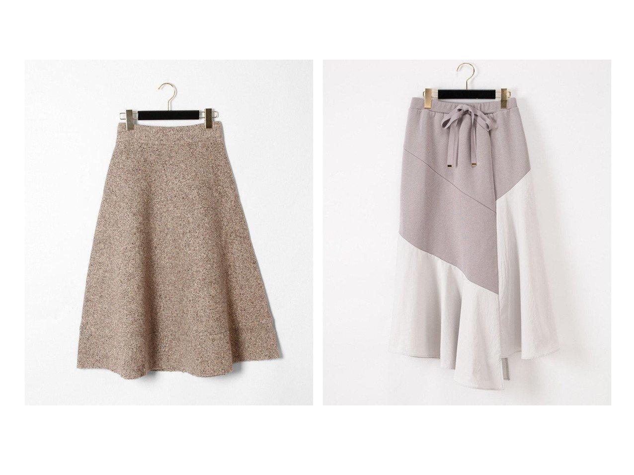 【GRACE CONTINENTAL/グレース コンチネンタル】のツイーディーニットスカート&裏毛コンビスカート 【スカート】おすすめ!人気、トレンド・レディースファッションの通販   おすすめで人気の流行・トレンド、ファッションの通販商品 インテリア・家具・メンズファッション・キッズファッション・レディースファッション・服の通販 founy(ファニー) https://founy.com/ ファッション Fashion レディースファッション WOMEN スカート Skirt 送料無料 Free Shipping シンプル スニーカー ツイード フレア イレギュラーヘム コンビ セットアップ タフタ プリント |ID:crp329100000057119