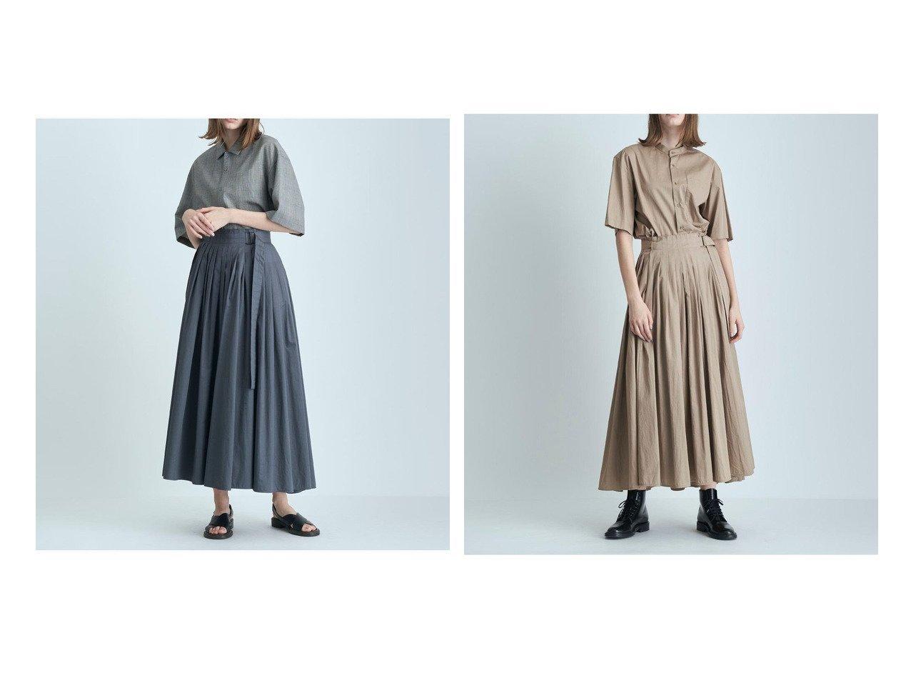 【ATON/エイトン】のCOTTON TWILL ダブルラッププリーツスカート 【スカート】おすすめ!人気、トレンド・レディースファッションの通販   おすすめで人気の流行・トレンド、ファッションの通販商品 インテリア・家具・メンズファッション・キッズファッション・レディースファッション・服の通販 founy(ファニー) https://founy.com/ ファッション Fashion レディースファッション WOMEN スカート Skirt プリーツスカート Pleated Skirts 送料無料 Free Shipping ダブル プリーツ ラップ |ID:crp329100000057121