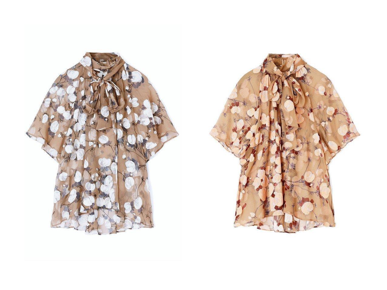 【ANAYI/アナイ】のペイントフラワープリントボウタイ ブラウス 【トップス・カットソー】おすすめ!人気、トレンド・レディースファッションの通販   おすすめで人気の流行・トレンド、ファッションの通販商品 インテリア・家具・メンズファッション・キッズファッション・レディースファッション・服の通販 founy(ファニー) https://founy.com/ ファッション Fashion レディースファッション WOMEN トップス・カットソー Tops/Tshirt シャツ/ブラウス Shirts/Blouses 花柄・フラワープリント・モチーフ Flower Patterns 2020年 2020 2020-2021秋冬・A/W AW・Autumn/Winter・FW・Fall-Winter/2020-2021 2021年 2021 2021-2022秋冬・A/W AW・Autumn/Winter・FW・Fall-Winter・2021-2022 A/W・秋冬 AW・Autumn/Winter・FW・Fall-Winter キャミソール ショート シルク スリーブ センター フェミニン フラワー フロント プリント リボン 別注 |ID:crp329100000057210