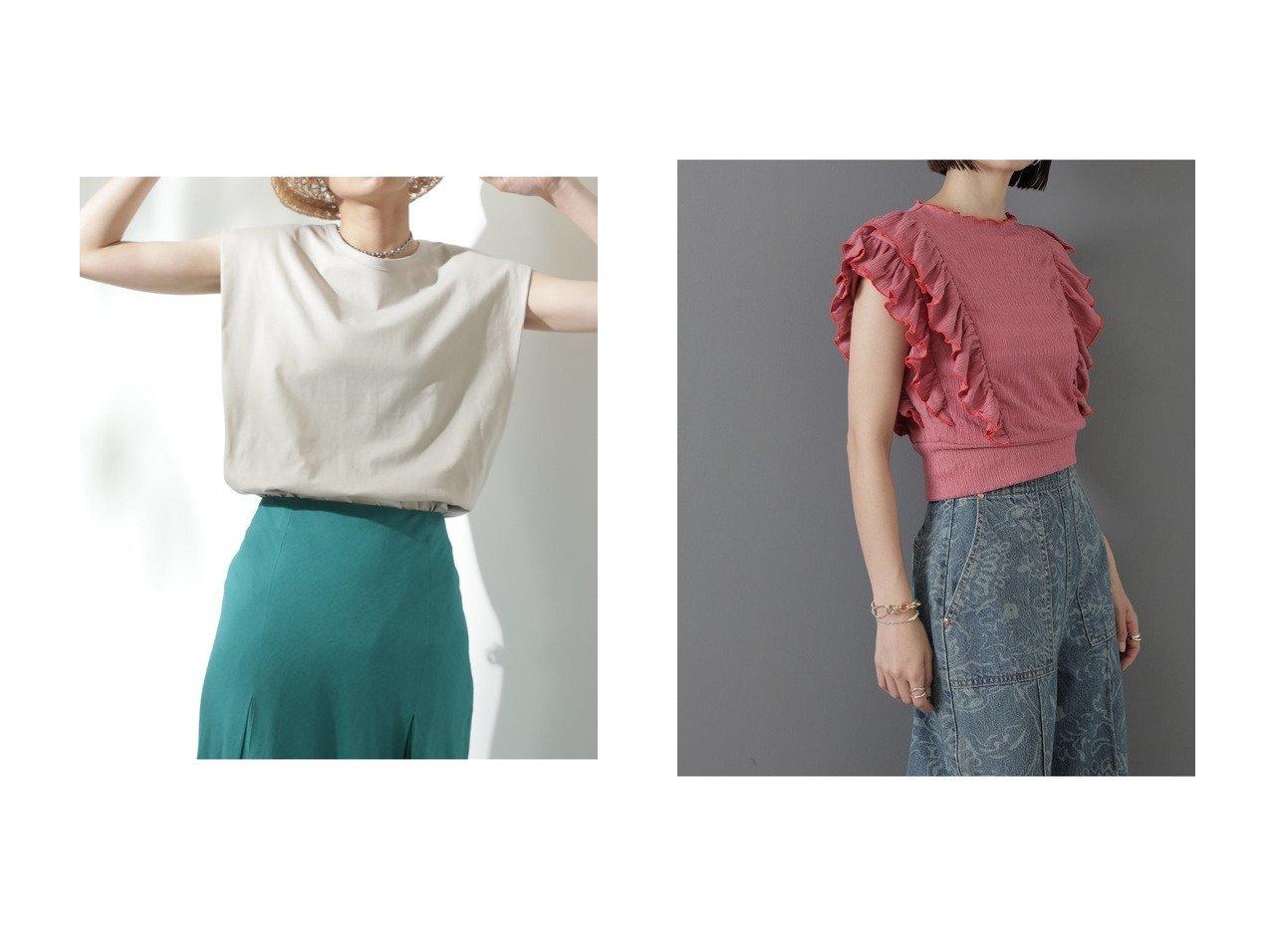 【ROSE BUD/ローズバッド】の肩タックノースリーブカットソー&フリルカットソー 【トップス・カットソー】おすすめ!人気、トレンド・レディースファッションの通販   おすすめで人気の流行・トレンド、ファッションの通販商品 インテリア・家具・メンズファッション・キッズファッション・レディースファッション・服の通販 founy(ファニー) https://founy.com/ ファッション Fashion レディースファッション WOMEN トップス・カットソー Tops/Tshirt キャミソール / ノースリーブ No Sleeves シャツ/ブラウス Shirts/Blouses ロング / Tシャツ T-Shirts カットソー Cut and Sewn 2020年 2020 2020-2021秋冬・A/W AW・Autumn/Winter・FW・Fall-Winter/2020-2021 2021年 2021 2021-2022秋冬・A/W AW・Autumn/Winter・FW・Fall-Winter・2021-2022 A/W・秋冬 AW・Autumn/Winter・FW・Fall-Winter おすすめ Recommend カットソー キャミソール スリット タンク ショート シンプル スリーブ トレンド フィット フェミニン フリル |ID:crp329100000057217