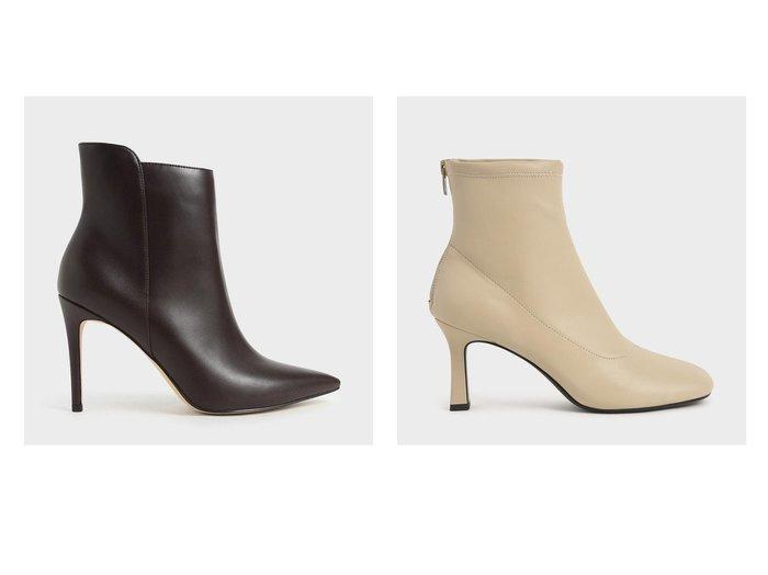 【CHARLES & KEITH/チャールズ アンド キース】のテクスチャード スティレットヒールアンクルブーツ Textured Stiletto Heel Ankle Boots&スプールヒール アンクルブーツ Spool Heel Ankle Boots おすすめ!人気、トレンド・レディースファッションの通販   おすすめ人気トレンドファッション通販アイテム 人気、トレンドファッション・服の通販 founy(ファニー)  ファッション Fashion レディースファッション WOMEN 2020年 2020 2020-2021秋冬・A/W AW・Autumn/Winter・FW・Fall-Winter/2020-2021 A/W・秋冬 AW・Autumn/Winter・FW・Fall-Winter ショート スエード ドッキング ベーシック モダン アンクル 今季 シューズ スタイリッシュ ソックス トレンド フェミニン |ID:crp329100000057442