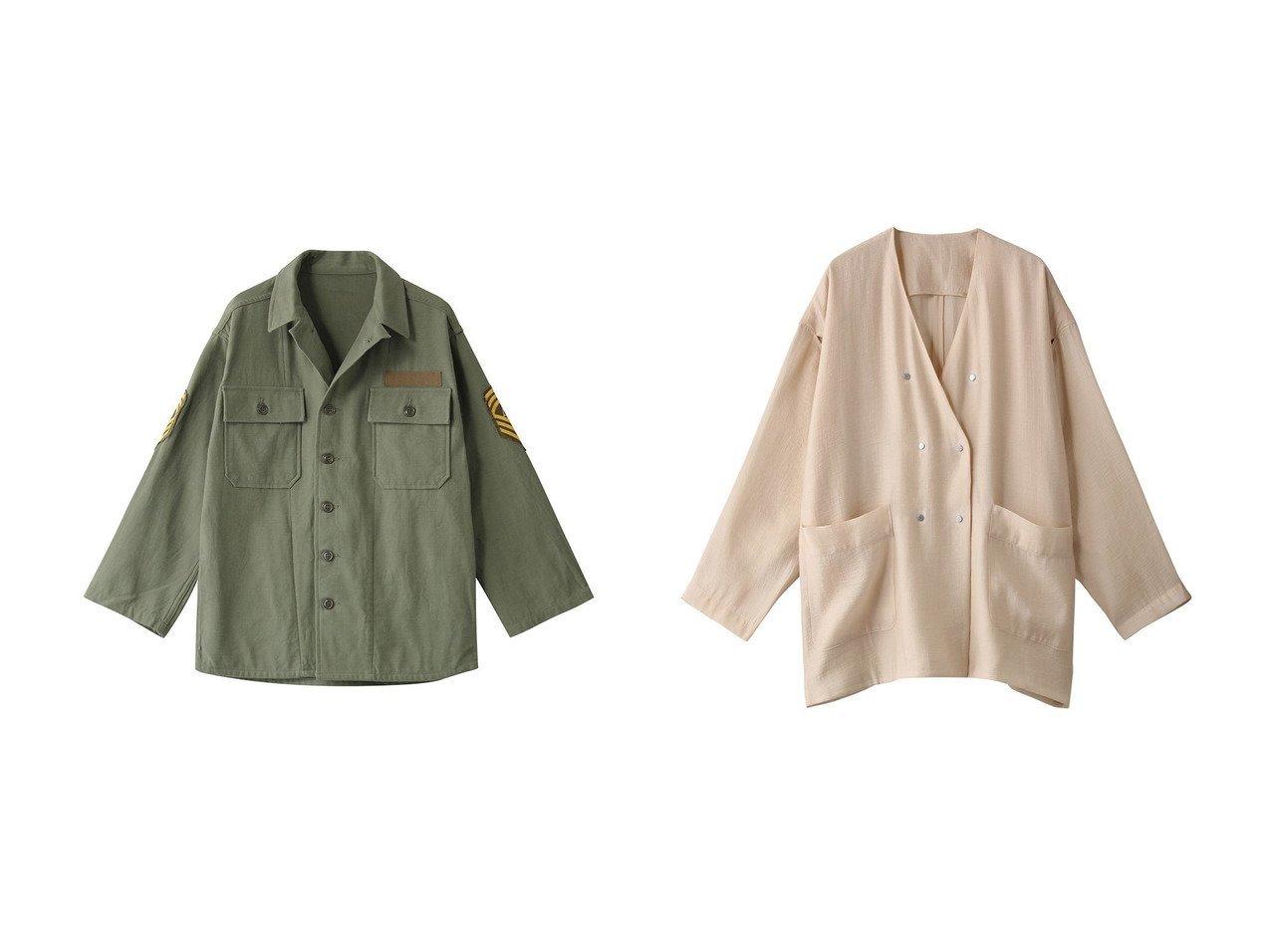 【ROSE BUD/ローズバッド】のノーカラーシアージャケット&【MADISONBLUE/マディソンブルー】のミリタリージャケット 【アウター】おすすめ!人気、トレンド・レディースファッションの通販 おすすめで人気の流行・トレンド、ファッションの通販商品 インテリア・家具・メンズファッション・キッズファッション・レディースファッション・服の通販 founy(ファニー) https://founy.com/ ファッション Fashion レディースファッション WOMEN アウター Coat Outerwear ジャケット Jackets ブルゾン Blouson/Jackets 2020年 2020 2020-2021秋冬・A/W AW・Autumn/Winter・FW・Fall-Winter/2020-2021 2021年 2021 2021-2022秋冬・A/W AW・Autumn/Winter・FW・Fall-Winter・2021-2022 A/W・秋冬 AW・Autumn/Winter・FW・Fall-Winter ジャケット スタイリッシュ フェミニン ブルゾン ミリタリー シアー スリット 夏 Summer  ID:crp329100000057570