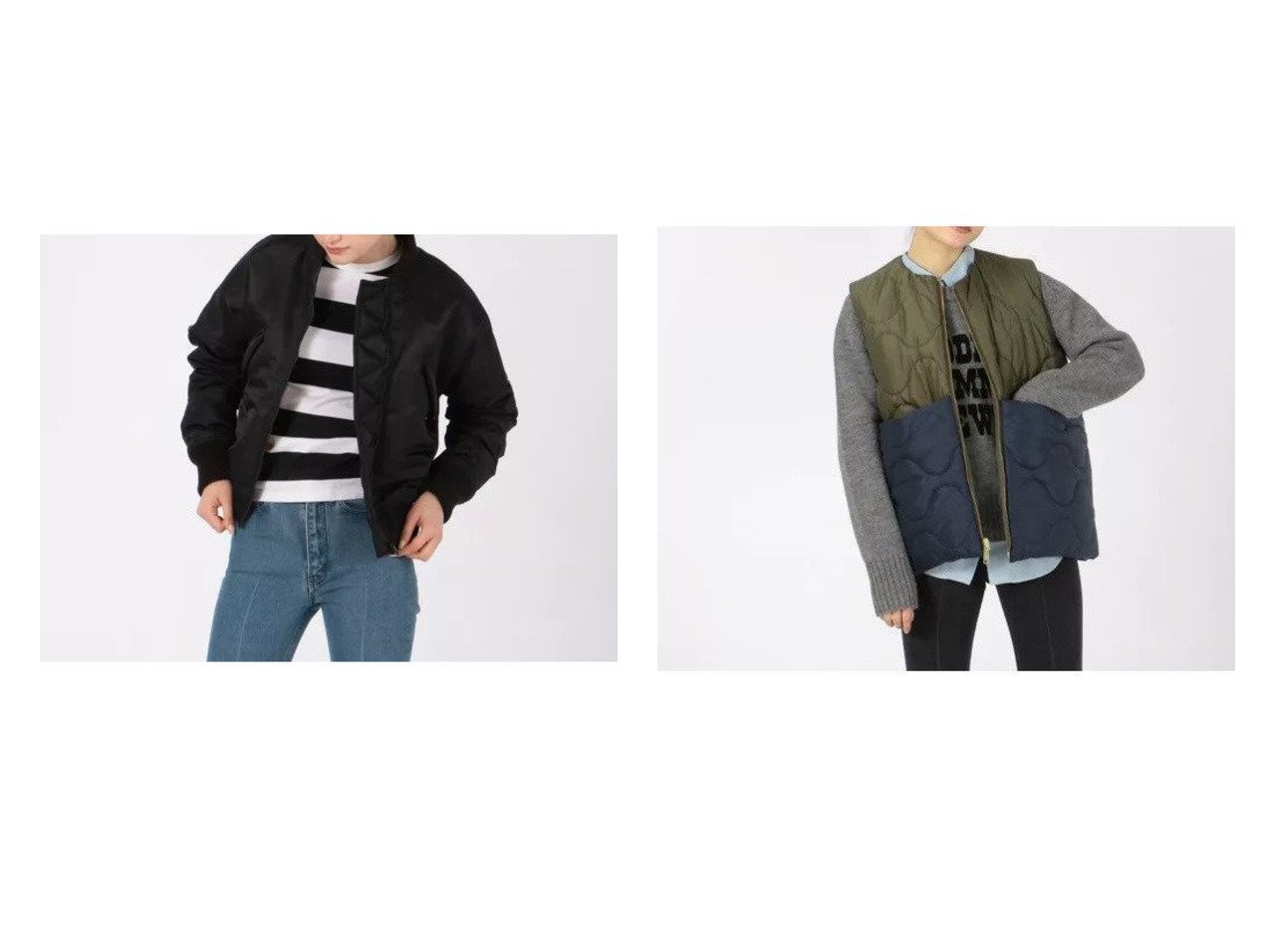 【MADISONBLUE/マディソンブルー】のCOMPACT MA-1 NY TWILL JACKET&NO COLLAR VEST QUILTING JACKET 【アウター】おすすめ!人気、トレンド・レディースファッションの通販 おすすめで人気の流行・トレンド、ファッションの通販商品 インテリア・家具・メンズファッション・キッズファッション・レディースファッション・服の通販 founy(ファニー) https://founy.com/ ファッション Fashion レディースファッション WOMEN アウター Coat Outerwear ジャケット Jackets ブルゾン Blouson/Jackets MA-1 MA-1 コート Coats ショート ジャケット フォルム ブルゾン ミリタリー ヴィンテージ 軽量 キルティング サテン ダウン ベスト ポケット リバーシブル ロング |ID:crp329100000057896