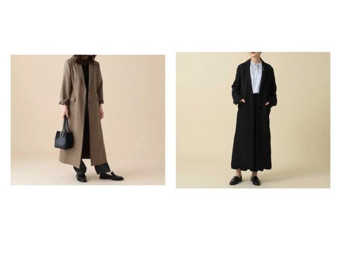 【Demi-Luxe BEAMS/デミルクス ビームス】のDemi- ダブルツイル チェスターコート 【アウター】おすすめ!人気、トレンド・レディースファッションの通販 おすすめ人気トレンドファッション通販アイテム インテリア・キッズ・メンズ・レディースファッション・服の通販 founy(ファニー) https://founy.com/ ファッション Fashion レディースファッション WOMEN アウター Coat Outerwear コート Coats チェスターコート Top Coat シェイプ ジャケット スリット チェスターコート ロング |ID:crp329100000057897