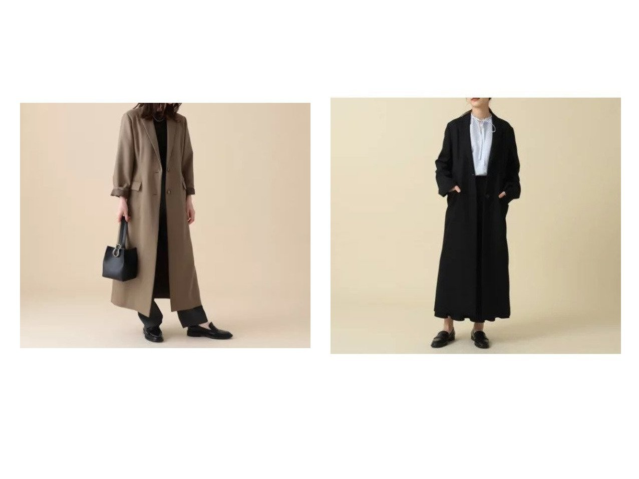 【Demi-Luxe BEAMS/デミルクス ビームス】のDemi- ダブルツイル チェスターコート 【アウター】おすすめ!人気、トレンド・レディースファッションの通販 おすすめで人気の流行・トレンド、ファッションの通販商品 インテリア・家具・メンズファッション・キッズファッション・レディースファッション・服の通販 founy(ファニー) https://founy.com/ ファッション Fashion レディースファッション WOMEN アウター Coat Outerwear コート Coats チェスターコート Top Coat シェイプ ジャケット スリット チェスターコート ロング |ID:crp329100000057897