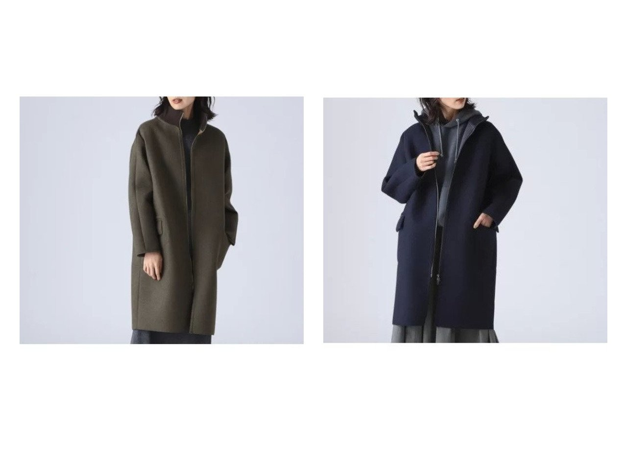 【Demi-Luxe BEAMS/デミルクス ビームス】のAK+ ハイネック ボンディングコート 【アウター】おすすめ!人気、トレンド・レディースファッションの通販 おすすめで人気の流行・トレンド、ファッションの通販商品 インテリア・家具・メンズファッション・キッズファッション・レディースファッション・服の通販 founy(ファニー) https://founy.com/ ファッション Fashion レディースファッション WOMEN アウター Coat Outerwear コート Coats ハイネック パターン ブルゾン ベーシック ボンディング 防寒 メンズ |ID:crp329100000057898