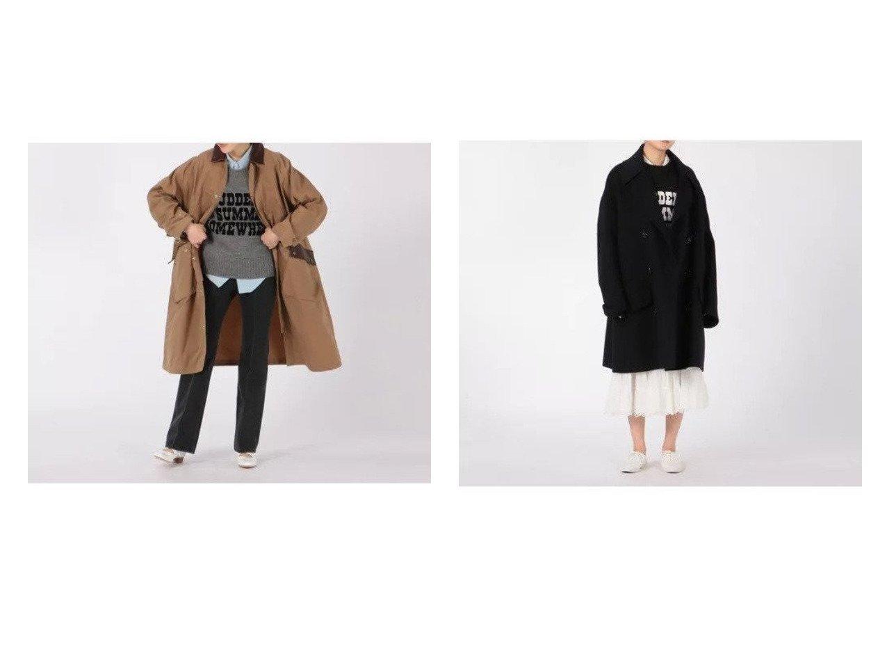 【MADISONBLUE/マディソンブルー】のRV BIG PEA CT BEAVER COAT&HUNTING LONG CT WAXED CLOTH COAT 【アウター】おすすめ!人気、トレンド・レディースファッションの通販 おすすめで人気の流行・トレンド、ファッションの通販商品 インテリア・家具・メンズファッション・キッズファッション・レディースファッション・服の通販 founy(ファニー) https://founy.com/ ファッション Fashion レディースファッション WOMEN アウター Coat Outerwear コート Coats Pコート Pea Coats A/W・秋冬 AW・Autumn/Winter・FW・Fall-Winter ビッグ メルトン 定番 Standard フラップ  ID:crp329100000058148