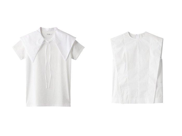 【Whim Gazette/ウィムガゼット】のカラーセットTシャツ&タイプライターボックスシルエットブラウス 【トップス・カットソー】おすすめ!人気、トレンド・レディースファッションの通販 おすすめ人気トレンドファッション通販アイテム インテリア・キッズ・メンズ・レディースファッション・服の通販 founy(ファニー) https://founy.com/ ファッション Fashion レディースファッション WOMEN トップス・カットソー Tops/Tshirt シャツ/ブラウス Shirts/Blouses ロング / Tシャツ T-Shirts カットソー Cut and Sewn ショート シンプル スリーブ タイプライター フォルム ボックス ボトム モノトーン ガーリー トレンド ビッグ ベーシック  ID:crp329100000058223