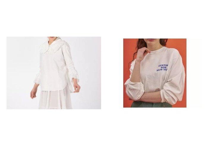 【MADISONBLUE/マディソンブルー】のBLOUSE&【Shinzone/シンゾーン】のCUSTOM BOB T 【トップス・カットソー】おすすめ!人気、トレンド・レディースファッションの通販 おすすめ人気トレンドファッション通販アイテム 人気、トレンドファッション・服の通販 founy(ファニー) ファッション Fashion レディースファッション WOMEN トップス・カットソー Tops/Tshirt シャツ/ブラウス Shirts/Blouses ロング / Tシャツ T-Shirts カットソー Cut and Sewn レース ロマンティック 長袖 |ID:crp329100000058301