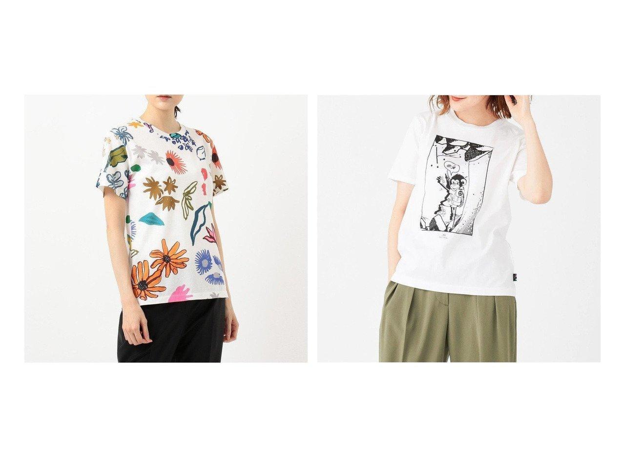 【Paul Smith/ポール スミス】の【洗える!】モンキークライム Tシャツ&【洗える】ペインテッドフローラル Tシャツ 【トップス・カットソー】おすすめ!人気、トレンド・レディースファッションの通販 おすすめで人気の流行・トレンド、ファッションの通販商品 インテリア・家具・メンズファッション・キッズファッション・レディースファッション・服の通販 founy(ファニー) https://founy.com/ ファッション Fashion レディースファッション WOMEN トップス・カットソー Tops/Tshirt シャツ/ブラウス Shirts/Blouses ロング / Tシャツ T-Shirts カットソー Cut and Sewn 送料無料 Free Shipping S/S・春夏 SS・Spring/Summer おすすめ Recommend カットソー シルケット ストライプ スリット ベーシック ロンドン ワーク 半袖 洗える インナー コレクション ジャケット スポーツ 定番 Standard 人気 パープル フロント プリント モチーフ A/W・秋冬 AW・Autumn/Winter・FW・Fall-Winter 2020年 2020  ID:crp329100000058374