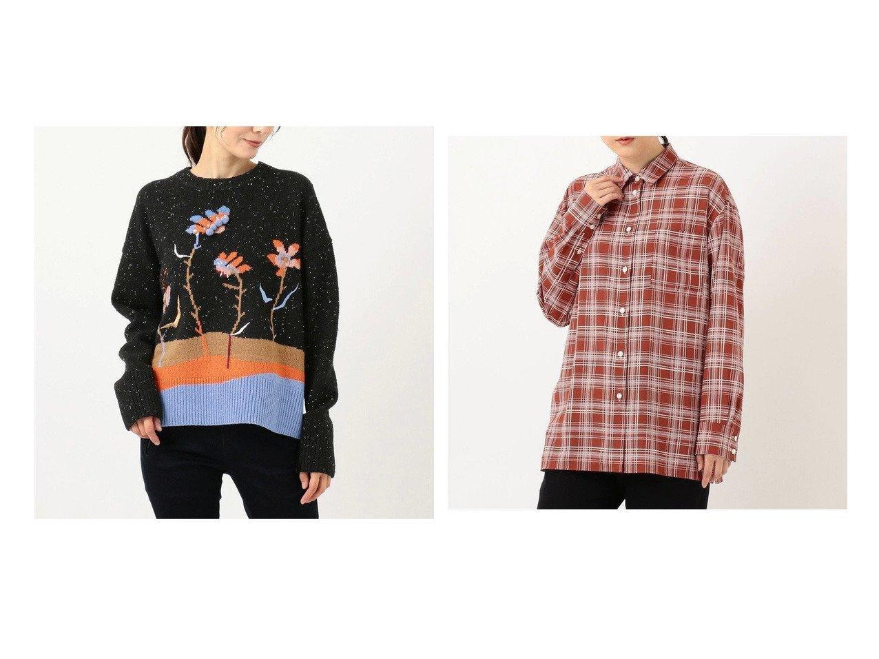【Paul Smith/ポール スミス】のウッドブロックフローラル プルオーバーニット&【洗える】アーカイブフローラル&ドローンチェックプリント シャツ 【トップス・カットソー】おすすめ!人気、トレンド・レディースファッションの通販 おすすめで人気の流行・トレンド、ファッションの通販商品 インテリア・家具・メンズファッション・キッズファッション・レディースファッション・服の通販 founy(ファニー) https://founy.com/ ファッション Fashion レディースファッション WOMEN トップス・カットソー Tops/Tshirt ニット Knit Tops プルオーバー Pullover シャツ/ブラウス Shirts/Blouses イタリア カラフル セーター ツイード ネップ ボトム モチーフ 送料無料 Free Shipping エレガント カフス シンプル ストレッチ チェック プリント 洗える  ID:crp329100000058376