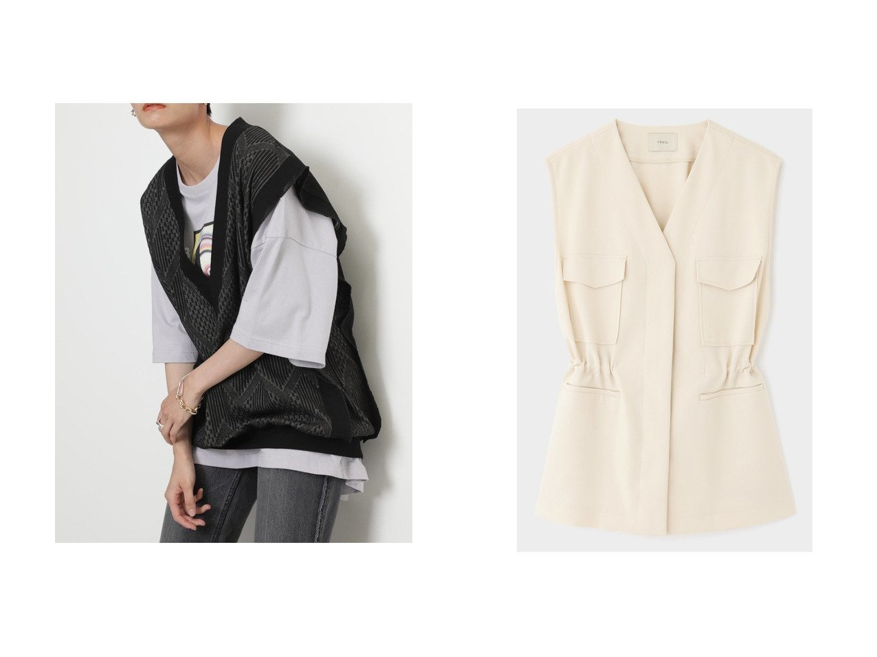 【LE PHIL/ル フィル】のライトツイルジャケット&【ROSE BUD/ローズバッド】のフリルディープVネックベスト 【アウター】おすすめ!人気、トレンド・レディースファッションの通販 おすすめで人気の流行・トレンド、ファッションの通販商品 インテリア・家具・メンズファッション・キッズファッション・レディースファッション・服の通販 founy(ファニー) https://founy.com/ ファッション Fashion レディースファッション WOMEN アウター Coat Outerwear ジャケット Jackets 2020年 2020 2020-2021秋冬・A/W AW・Autumn/Winter・FW・Fall-Winter/2020-2021 2021年 2021 2021-2022秋冬・A/W AW・Autumn/Winter・FW・Fall-Winter・2021-2022 A/W・秋冬 AW・Autumn/Winter・FW・Fall-Winter おすすめ Recommend インナー シフォン ジャケット スリーブ タートルネック フェミニン フリル プリーツ ベスト ミックス 夏 Summer 秋 Autumn/Fall セットアップ ノースリーブ ミリタリー  ID:crp329100000058634