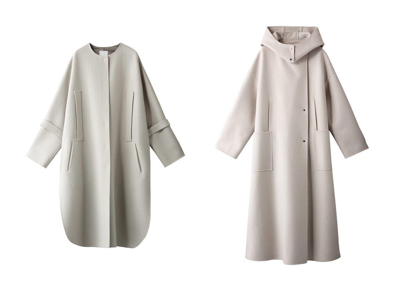 【ebure/エブール】のリュクスメルトン ノーカラーコート&リュクスメルトン フーデットコート 【アウター】おすすめ!人気、トレンド・レディースファッションの通販 おすすめで人気の流行・トレンド、ファッションの通販商品 インテリア・家具・メンズファッション・キッズファッション・レディースファッション・服の通販 founy(ファニー) https://founy.com/ ファッション Fashion レディースファッション WOMEN アウター Coat Outerwear コート Coats 2020年 2020 2020-2021秋冬・A/W AW・Autumn/Winter・FW・Fall-Winter/2020-2021 2021年 2021 2021-2022秋冬・A/W AW・Autumn/Winter・FW・Fall-Winter・2021-2022 A/W・秋冬 AW・Autumn/Winter・FW・Fall-Winter カシミヤ シンプル スリット ポンチョ メルトン ロング  ID:crp329100000058640
