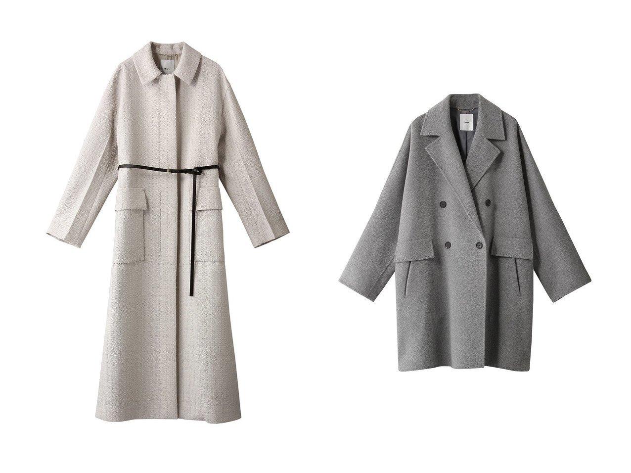 【ebure/エブール】のリュクスツィード ベルトコート&【ELLE SHOP限定】スーパー120 sダブルビーバー ショートコート 【アウター】おすすめ!人気、トレンド・レディースファッションの通販 おすすめで人気の流行・トレンド、ファッションの通販商品 インテリア・家具・メンズファッション・キッズファッション・レディースファッション・服の通販 founy(ファニー) https://founy.com/ ファッション Fashion レディースファッション WOMEN アウター Coat Outerwear コート Coats ベルト Belts 2020年 2020 2020-2021秋冬・A/W AW・Autumn/Winter・FW・Fall-Winter/2020-2021 2021年 2021 2021-2022秋冬・A/W AW・Autumn/Winter・FW・Fall-Winter・2021-2022 A/W・秋冬 AW・Autumn/Winter・FW・Fall-Winter ツイード ロング ショート スリット ダブル 定番 Standard  ID:crp329100000058644