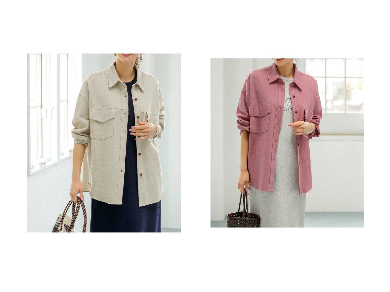【STYLE DELI/スタイルデリ】の綿麻ツイルシャツジャケット 【アウター】おすすめ!人気、トレンド・レディースファッションの通販 おすすめで人気の流行・トレンド、ファッションの通販商品 インテリア・家具・メンズファッション・キッズファッション・レディースファッション・服の通販 founy(ファニー) https://founy.com/ ファッション Fashion レディースファッション WOMEN アウター Coat Outerwear ジャケット Jackets カフス ショルダー ジャケット ツイル ドロップ フラップ ポケット マーブル ヨーク ラウンド ルーズ ローズ 夏 Summer  ID:crp329100000058654