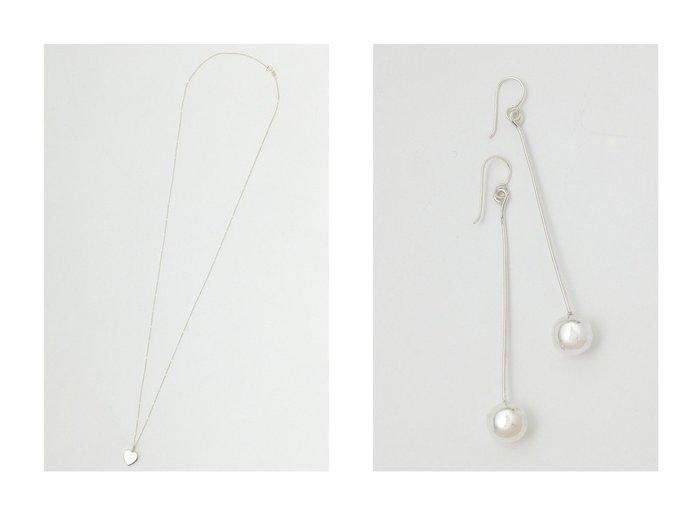 【Whim Gazette/ウィムガゼット】の【Nina &Jules】Small Pendant Top ネックレス&【Nina &Jules】Hanging Ball ピアス 【ジュエリー アクセサリー】おすすめ!人気、トレンド・レディースファッションの通販 おすすめ人気トレンドファッション通販アイテム インテリア・キッズ・メンズ・レディースファッション・服の通販 founy(ファニー) https://founy.com/ ファッション Fashion レディースファッション WOMEN ジュエリー Jewelry ネックレス Necklaces リング Rings イヤリング Earrings コレクション シルバー シンプル ジュエリー チェーン ネックレス フランス モチーフ モノトーン A/W・秋冬 AW・Autumn/Winter・FW・Fall-Winter 2020年 2020 2021年 2021 再入荷 Restock/Back in Stock/Re Arrival 2020-2021秋冬・A/W AW・Autumn/Winter・FW・Fall-Winter/2020-2021 2021-2022秋冬・A/W AW・Autumn/Winter・FW・Fall-Winter・2021-2022 おすすめ Recommend イヤリング  ID:crp329100000058773